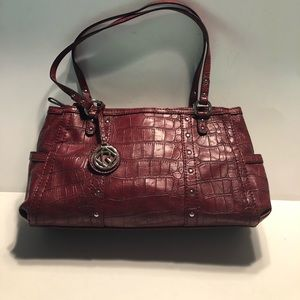 Relic faux crocodile red purse